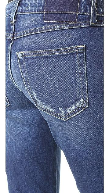 AMO 扭褶牛仔裤