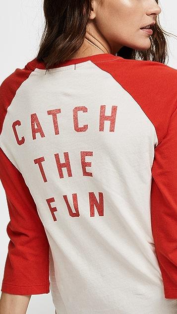 AMO Футболка Catch the Fun с рукавами реглан