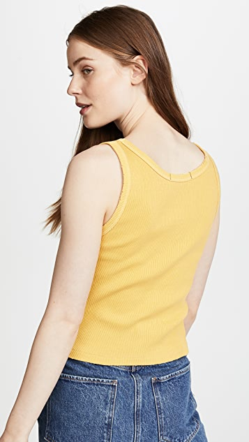 AMO Cropped Ribbed Tank Top