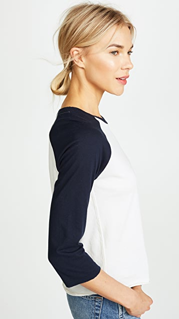 AMO Embroidered Loved Raglan Baseball Tee
