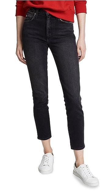 AMO Укороченные джинсы Stix с высокой посадкой