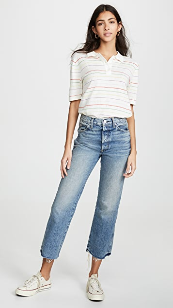 AMO Emma Relaxed Cropped Boot Jeans