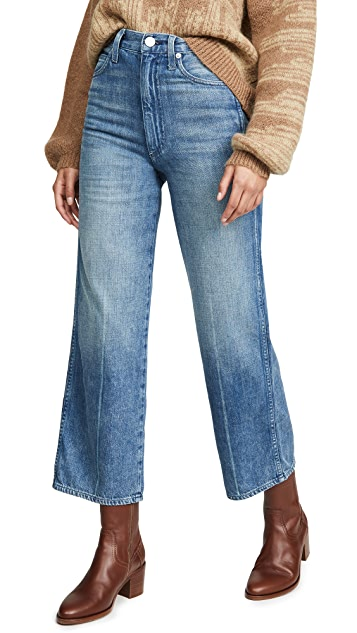 AMO Ava Crop High Rise Wide Leg Jeans