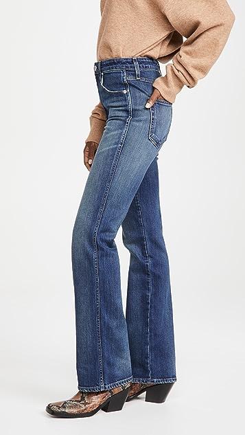 AMO 高腰微喇牛仔裤