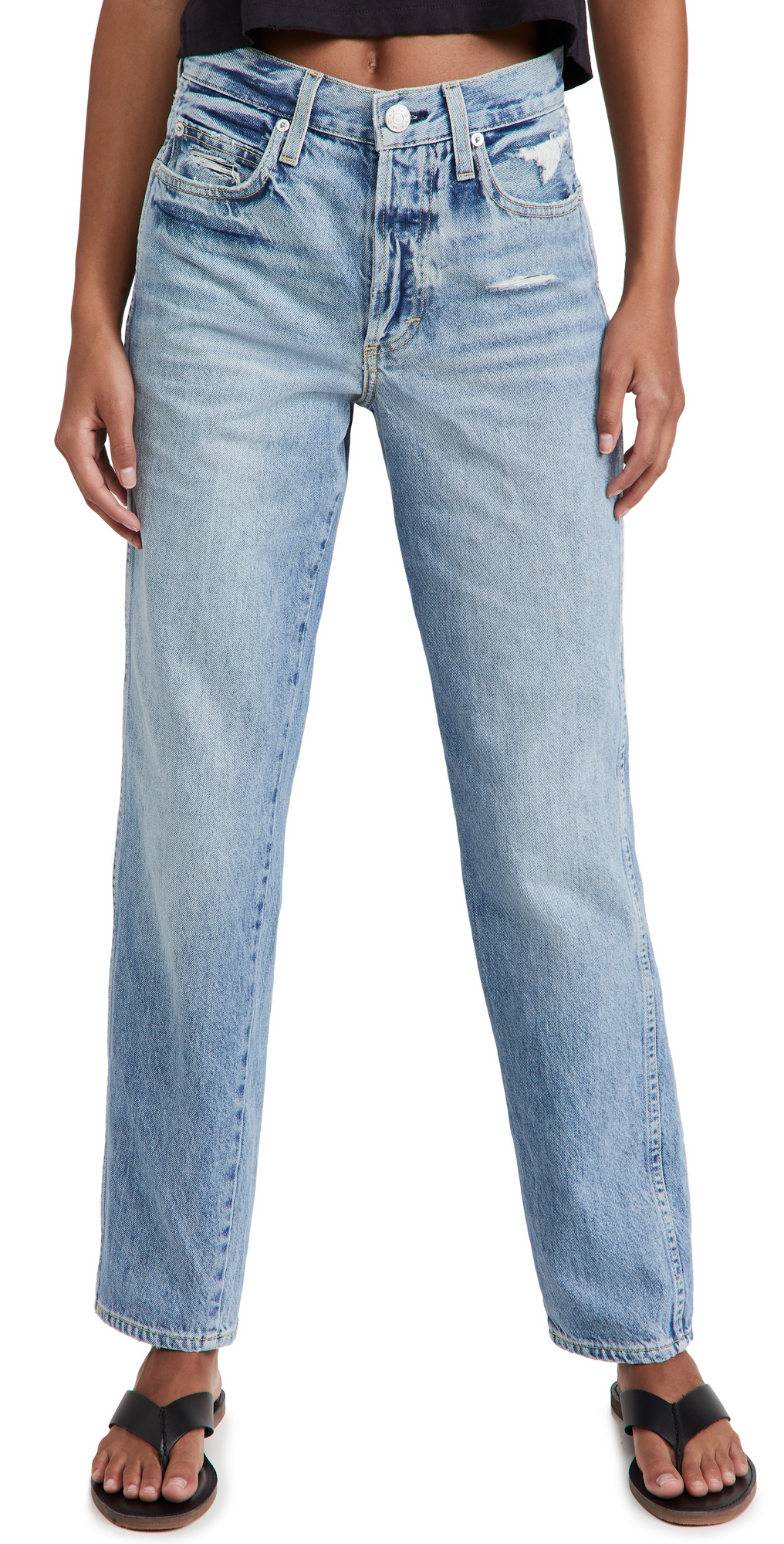 Lilah High Rise Straight Jeans