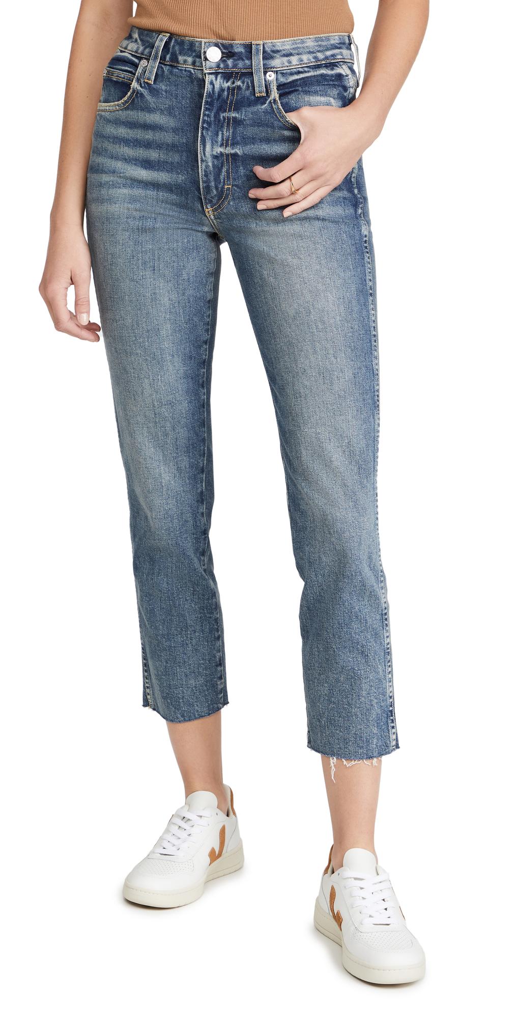 Chloe Crop Raw Hem Jeans