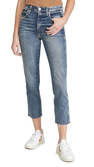 AMO Chloe Crop Raw Hem Jeans