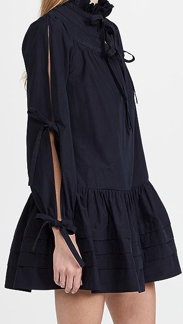 AMUR Oriana Blouson Sleeve Dress