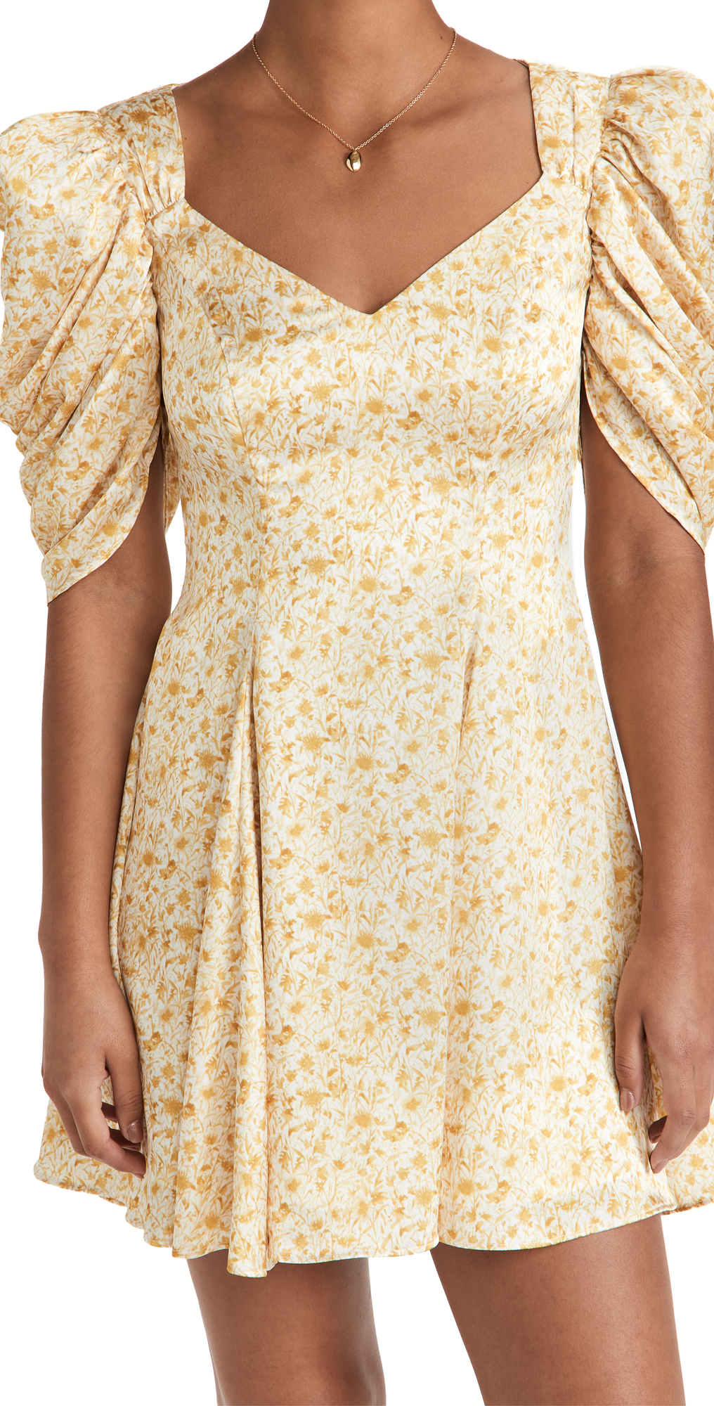 Fit and Flare Printed Mini Dress