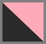Black Denim Pop Pink