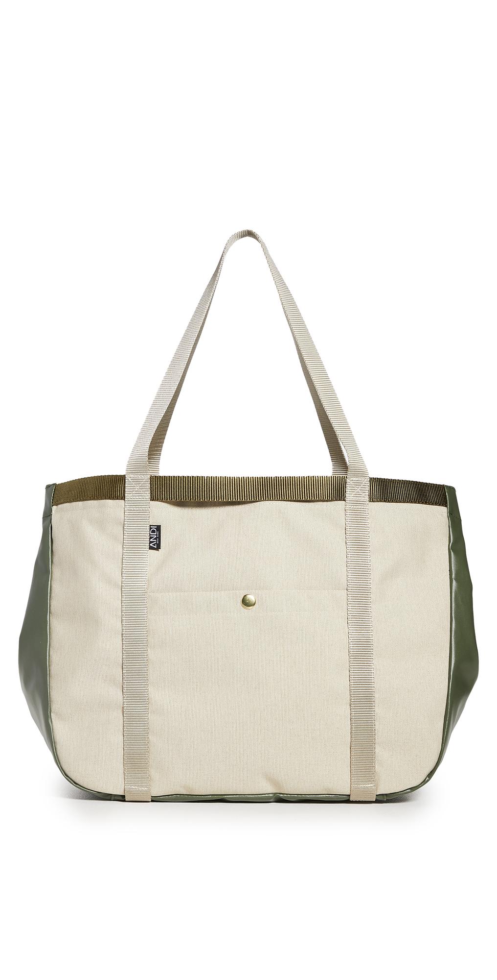 ANDI Sand Denim Summer Tote Bag