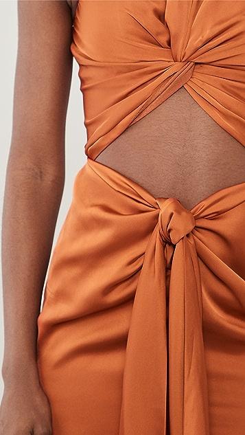 Andrea Iyamah Reni Knotted Dress