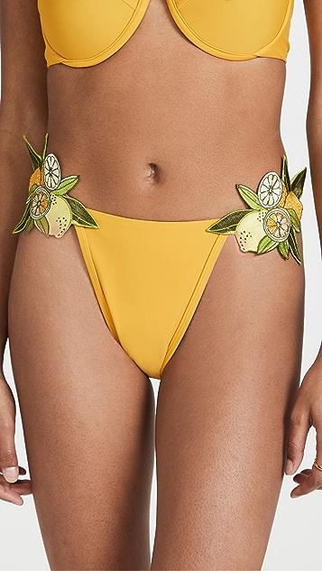 Andrea Iyamah Mona Embroidered Bikini Bottoms