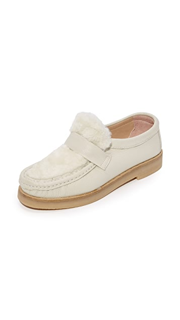 An Hour and A Shower Magna Slip On Shearling Loafers