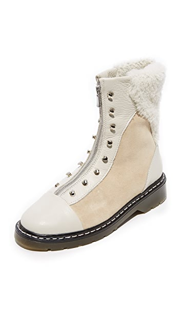 An Hour and A Shower Dana Shearling Booties