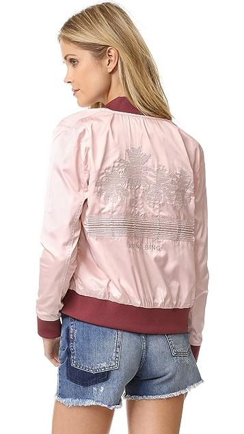 ANINE BING Двусторонняя атласная куртка