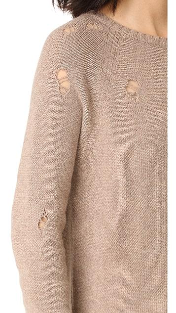 ANINE BING Distressed Sweater