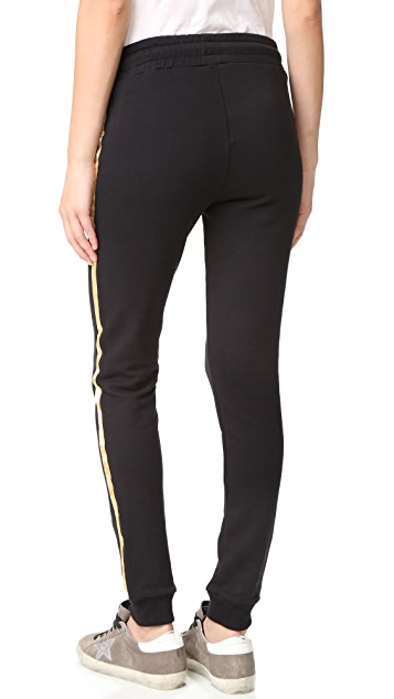 ANINE BING Sweatpants with Gold Stripes