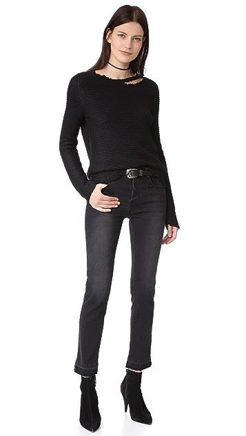 ANINE BING Open Hem Jeans