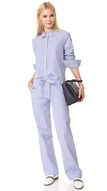 ANINE BING Striped Pajama Pants
