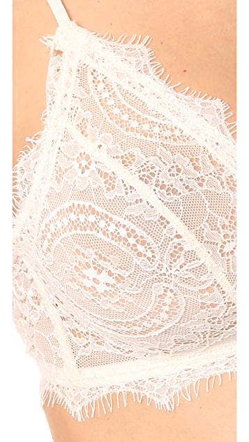 ANINE BING Lace Bra with Trim