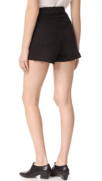 ANINE BING High Waisted Denim Shorts