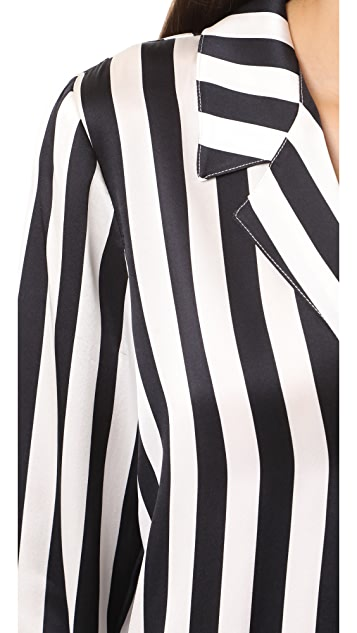 ANINE BING Striped PJ Top