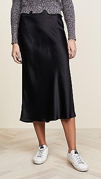 Bar Silk Skirt