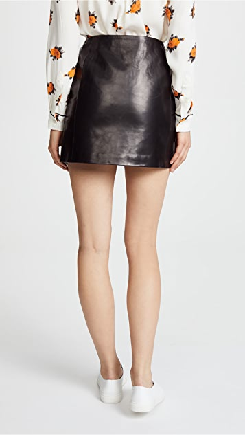 ANINE BING Julia Leather Skirt