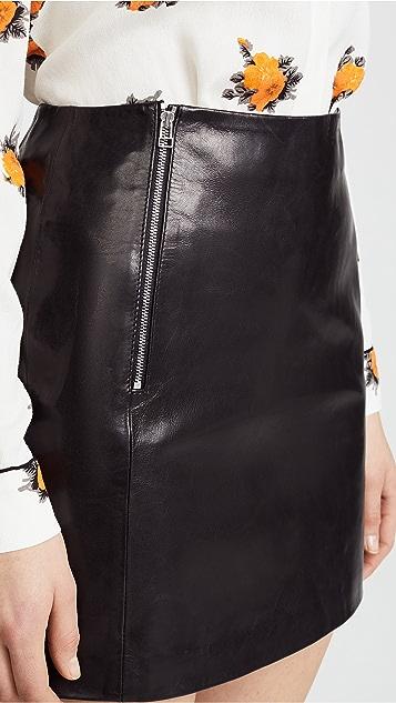 ANINE BING Julia Leather Skirt