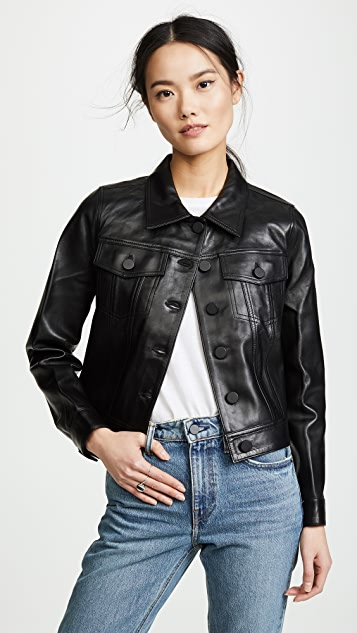 Cooper Leather Jacket by Anine Bing