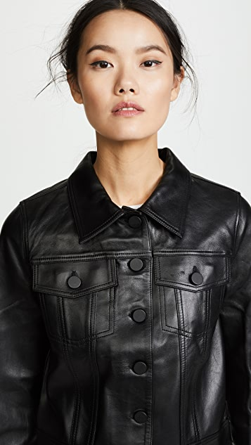 ANINE BING Cooper Leather Jacket