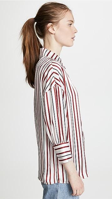 ANINE BING Mia 真丝女式衬衫