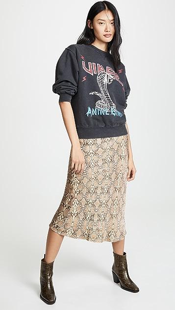 ANINE BING Bar Silk Skirt