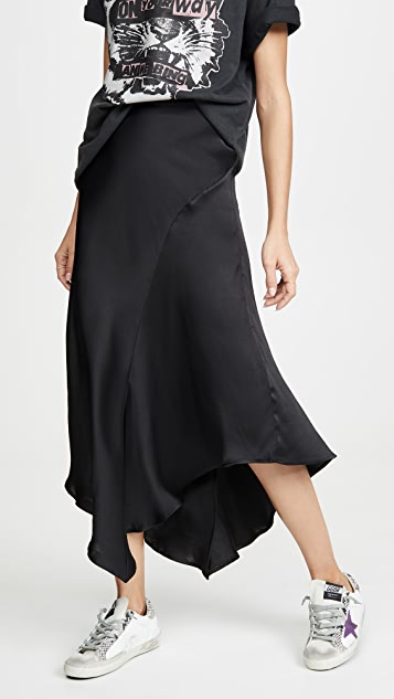 ANINE BING Bailey Silk Skirt