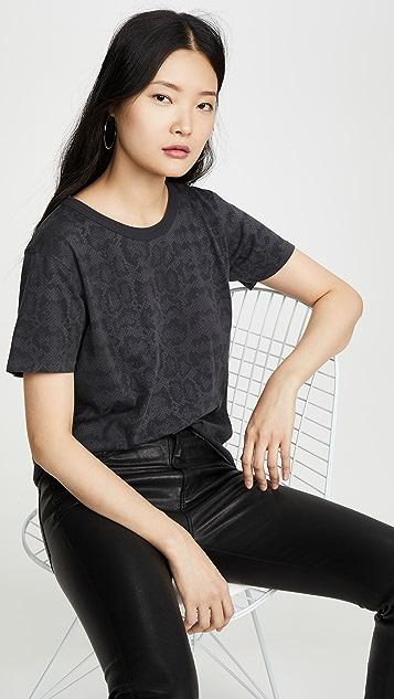 ANINE BING 蟒蛇纹 T 恤