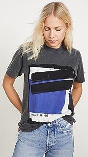 ANINE BING Georgie Blue 彩绘 T 恤