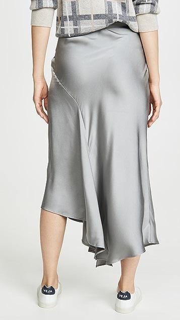 ANINE BING Металлизированная юбка Bailey