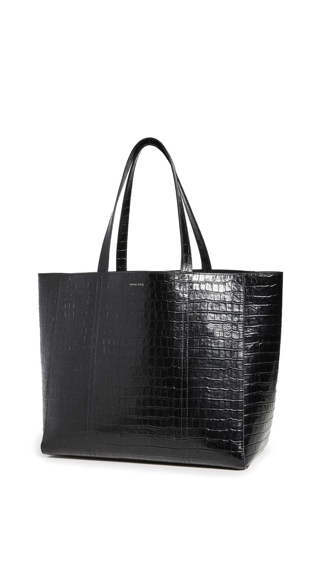ANINE BING Croco Tote Bag