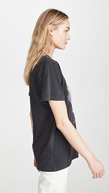 ANINE BING Lili Washed Black Eagle Tee