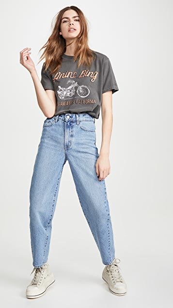 ANINE BING Lili Gun Powder 赛车 T 恤