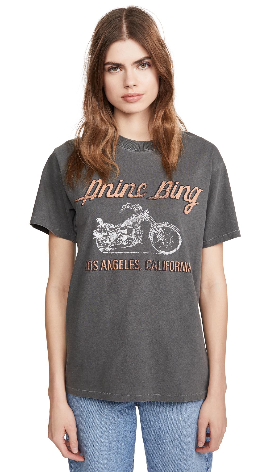 ANINE BING Lili Gun Powder Motorcycle Tee