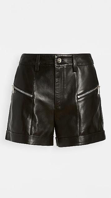 ANINE BING Lia Leather Shorts