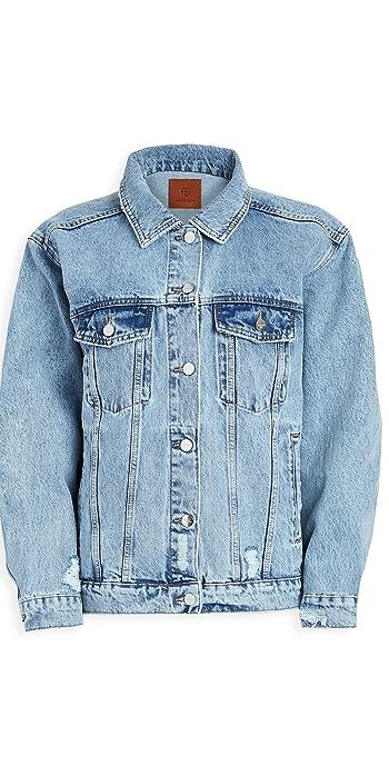 ANINE BING Rory Denim Jacket - Vintage Blue