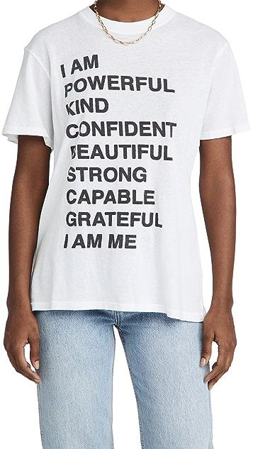 ANINE BING Lili Empowerment T 恤