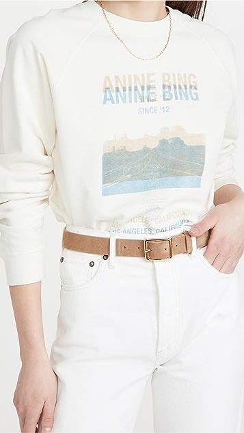 ANINE BING Arlo Desert Road Sweatshirt