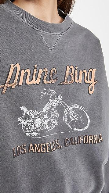 ANINE BING Ramona Moto Sweatshirt