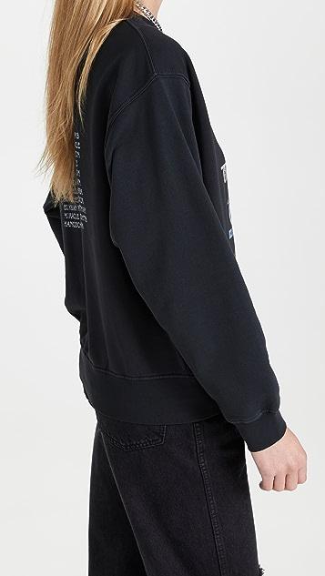 ANINE BING Ramona Biker Sweatshirt