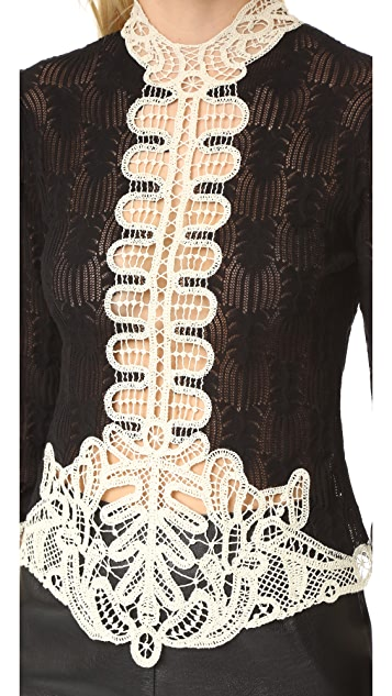 Anna Sui Victorian Knit Sweater