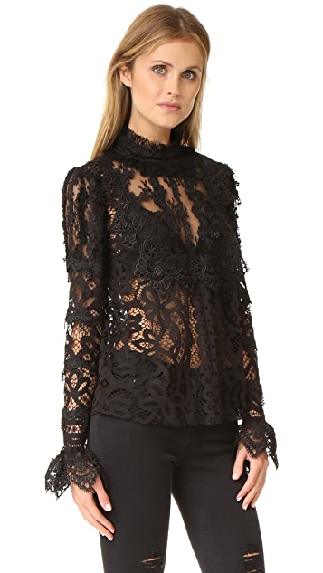 Anna Sui Magical Mystery Lace Top